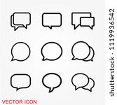 chat speech bubble icon | Shutterstock .eps vector #1119936542