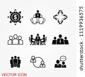business meeting icon vector | Shutterstock .eps vector #1119936575