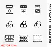 medicine pills icon vector | Shutterstock .eps vector #1119936782