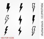 thunder bold lightning flash... | Shutterstock .eps vector #1119937406