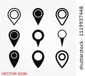 map marker icon vector | Shutterstock .eps vector #1119937448
