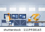 industry 4.0 smart factory... | Shutterstock .eps vector #1119938165