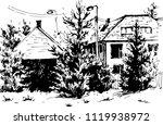 vector urban landscapes in hand ... | Shutterstock .eps vector #1119938972