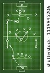 football match tactics scheme.... | Shutterstock .eps vector #1119945206