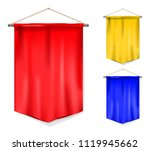 set of pennant | Shutterstock .eps vector #1119945662