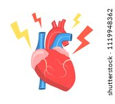 health problem with heart... | Shutterstock .eps vector #1119948362
