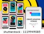 editable instagram stories... | Shutterstock .eps vector #1119949085