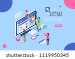 seo optimization  website pay... | Shutterstock .eps vector #1119950345