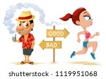 healthy way of life and... | Shutterstock .eps vector #1119951068