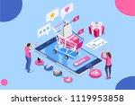 order online  shopping concept. ... | Shutterstock .eps vector #1119953858