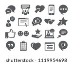 feedback icons set | Shutterstock . vector #1119954698