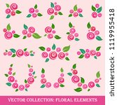 vector collection of floral... | Shutterstock .eps vector #1119955418