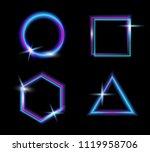 set of neon glow light.glow... | Shutterstock .eps vector #1119958706