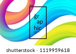trendy geometric background. 3d ... | Shutterstock .eps vector #1119959618