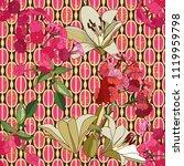 trendy floral seamless pattern... | Shutterstock .eps vector #1119959798