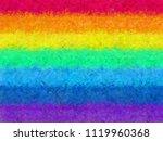 rainbow fur feather texture... | Shutterstock . vector #1119960368