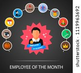 employee of the month flat... | Shutterstock .eps vector #1119963692