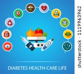 diabetes health care life flat... | Shutterstock .eps vector #1119963962