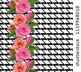 seamless pattern with beautiful ... | Shutterstock .eps vector #1119968018