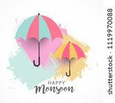 illustration of happy monsoon...   Shutterstock .eps vector #1119970088