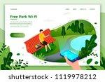 vector bright park banner... | Shutterstock .eps vector #1119978212