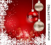 abstract beauty christmas and... | Shutterstock .eps vector #111997982