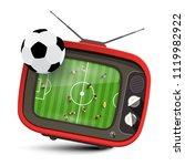 football match on tv. vector...   Shutterstock .eps vector #1119982922