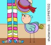 cute bird background with... | Shutterstock .eps vector #1119987032