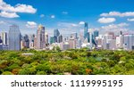 bangkok city skyline with... | Shutterstock . vector #1119995195