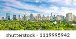 bangkok city skyline with... | Shutterstock . vector #1119995942