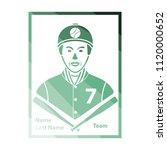 baseball card icon. flat color...