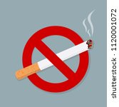 no smoking sign isolated on... | Shutterstock .eps vector #1120001072