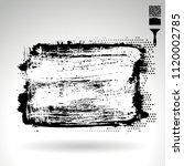 black brush stroke and texture. ... | Shutterstock .eps vector #1120002785
