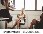 young asian businesswoman... | Shutterstock . vector #1120003538