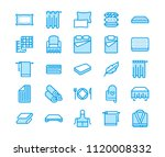 bedding flat line icons.... | Shutterstock .eps vector #1120008332