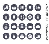 luggage flat glyph icons. carry ... | Shutterstock .eps vector #1120008425