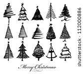Vector Christmas Tree Design Set