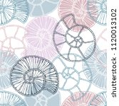 marine seamless pattern with... | Shutterstock .eps vector #1120013102