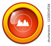 area chart flat icon  chart ... | Shutterstock .eps vector #1120014536