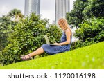 young smart student female in... | Shutterstock . vector #1120016198
