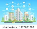 eco friendly lifestyle   modern ... | Shutterstock . vector #1120021505
