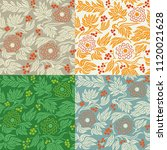 seamless floral pattern... | Shutterstock .eps vector #1120021628
