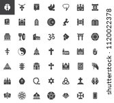 religion elements vector icons... | Shutterstock .eps vector #1120022378
