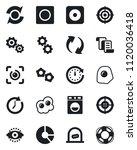set of vector isolated black... | Shutterstock .eps vector #1120036418