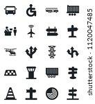 set of vector isolated black... | Shutterstock .eps vector #1120047485