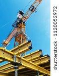 monolithic frame construction...   Shutterstock . vector #1120052972
