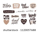 bundle of hand made letterings... | Shutterstock .eps vector #1120057688