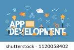 app development concept... | Shutterstock .eps vector #1120058402