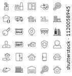 thin line vector icon set  ...   Shutterstock .eps vector #1120058945