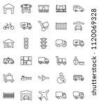 thin line vector icon set  ... | Shutterstock .eps vector #1120069328